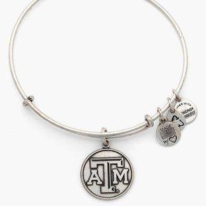 Alex & Ani A&M Texas Silver Bracelet